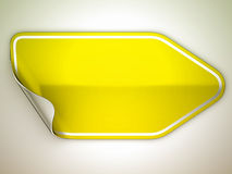 Yellow hamous sticker or label Royalty Free Stock Photography