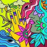 Yellow hand Stock Image