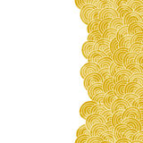 Yellow hand drawn vector background Royalty Free Stock Photography
