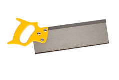 Yellow hand saw Stock Photo