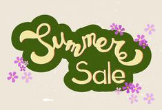 Yellow  hand sketched Summer sale Stock Photography