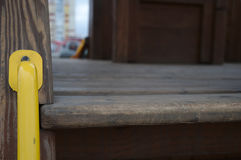 Yellow handle Royalty Free Stock Images