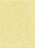 Yellow handmade paper texture Stock Photography