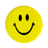 Yellow happy face button Royalty Free Stock Photos