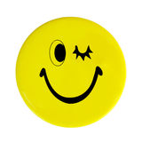 Yellow happy face button Royalty Free Stock Photography