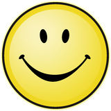Yellow happy smiley Royalty Free Stock Image