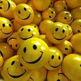Yellow happy smilies Royalty Free Stock Photos