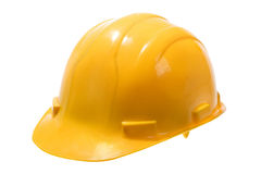 Yellow Hard Hat. Stock image of yellow hard hat isolated on white Royalty Free Stock Photo