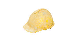 Yellow hard hat Stock Photo