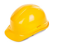 Yellow hard hat Royalty Free Stock Photo