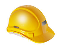 Yellow hard hat isolated on white Royalty Free Stock Photography