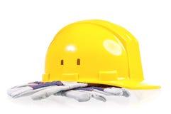 Yellow hard hat Royalty Free Stock Image