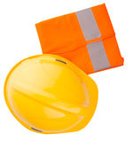 Yellow Hard Hat and Orange Vest III Stock Photo