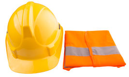 Yellow Hard Hat and Orange Vest IV Stock Photos