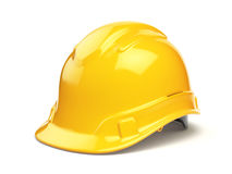 Yellow hard hat, safety helmet  on white Stock Image