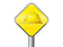 Yellow hard hat safety symbol vector icon Royalty Free Stock Photos