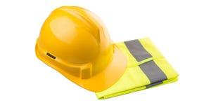 Yellow Hard Hat and Yellow Vest II Stock Image