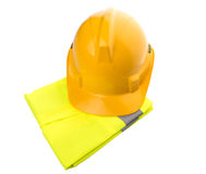 Yellow Hard Hat and Yellow Vest V Royalty Free Stock Photo