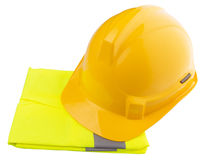 Yellow Hard Hat and Yellow Vest VI Royalty Free Stock Images
