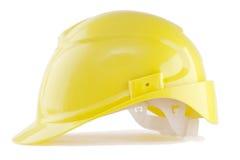 Yellow hardhat. Isolated on white Stock Image