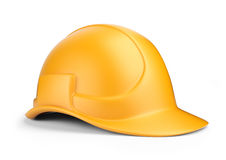 Yellow hardhat 3D. Construction tool.   Royalty Free Stock Photography