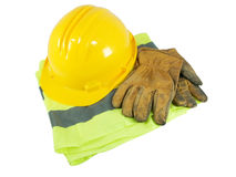 Yellow hardhat Stock Photos