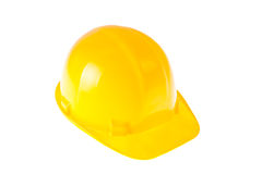 Yellow Hardhat isolated on White Royalty Free Stock Images