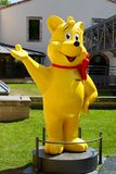 Yellow Haribo bear statue Stock Photography