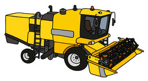 Yellow harvester Stock Photo