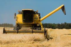 Yellow harvester Stock Image