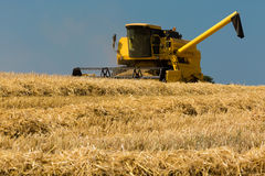 Yellow harvester Royalty Free Stock Images