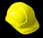 Yellow Hat builders. Protective head gear Royalty Free Stock Photography