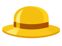 Yellow hat isolated illustration Stock Photo