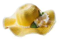 Yellow hat isolated Stock Photo