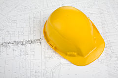 Yellow Hat on Project Royalty Free Stock Photography