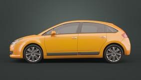 Yellow hatchback car
