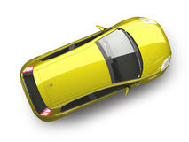 Free Yellow Hatchback Car Top View Stock Photos - 10236603