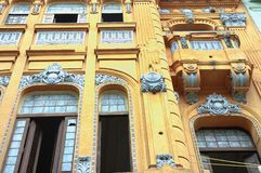 Yellow Havana facade Stock Photo