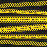 Yellow Hazard Warning Tapes Royalty Free Stock Photo