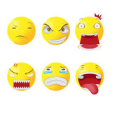 Yellow Head Face Cartoon Emotion Vector Royalty Free Stock Photos