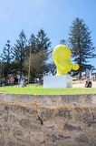 Yellow Head Sculpture: Sculptures by the Sea Royalty Free Stock Image