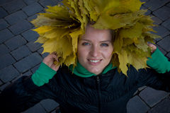 Yellow headdress Stock Photography