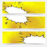 Yellow header book comic explosion banner Royalty Free Stock Photo