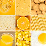 Yellow healthy food background Royalty Free Stock Images