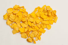 Yellow Heart Stock Photos