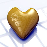 Yellow Heart Royalty Free Stock Photo