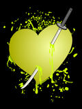 Yellow heart Stock Images