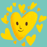 Yellow heart Stock Image