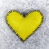Yellow heart Royalty Free Stock Photography