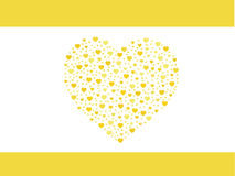 Yellow heart greeting card, valentines Royalty Free Stock Image